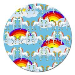 Rainbow pony  Magnet 5  (Round)