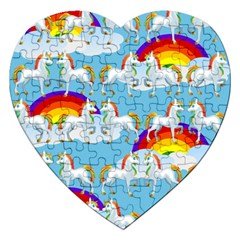 Rainbow pony  Jigsaw Puzzle (Heart)