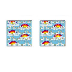 Rainbow pony  Cufflinks (Square)