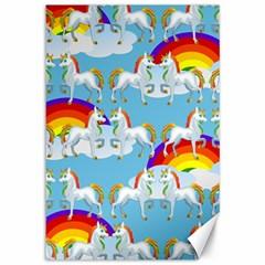 Rainbow pony  Canvas 12  x 18
