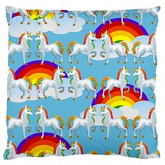 Rainbow pony  Large Cushion Case (One Side)