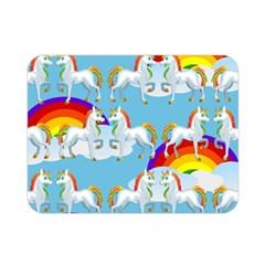Rainbow pony  Double Sided Flano Blanket (Mini)