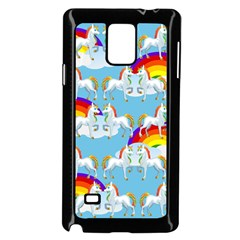 Rainbow Pony  Samsung Galaxy Note 4 Case (black)