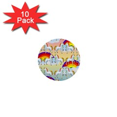 Rainbow pony  1  Mini Buttons (10 pack)
