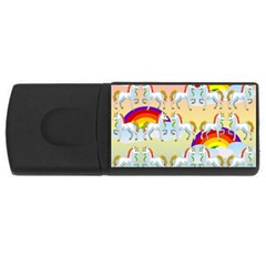 Rainbow pony  USB Flash Drive Rectangular (2 GB)