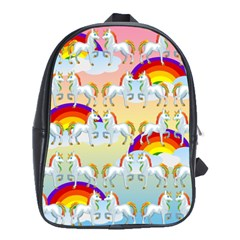 Rainbow pony  School Bags(Large)