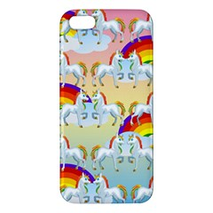 Rainbow pony  iPhone 5S/ SE Premium Hardshell Case