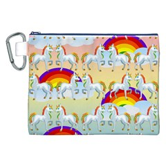 Rainbow pony  Canvas Cosmetic Bag (XXL)