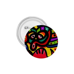A Seamless Crazy Face Doodle Pattern 1 75  Buttons
