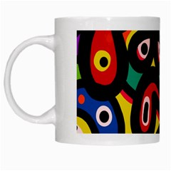 A Seamless Crazy Face Doodle Pattern White Mugs