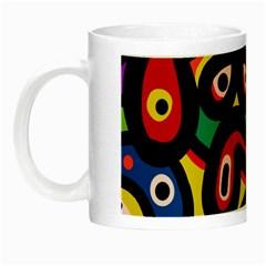 A Seamless Crazy Face Doodle Pattern Night Luminous Mugs