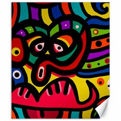 A Seamless Crazy Face Doodle Pattern Canvas 8  X 10