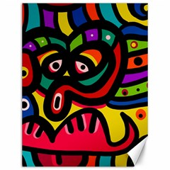 A Seamless Crazy Face Doodle Pattern Canvas 12  X 16