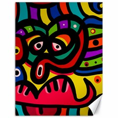 A Seamless Crazy Face Doodle Pattern Canvas 18  X 24