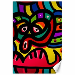 A Seamless Crazy Face Doodle Pattern Canvas 20  X 30