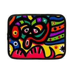 A Seamless Crazy Face Doodle Pattern Netbook Case (small)