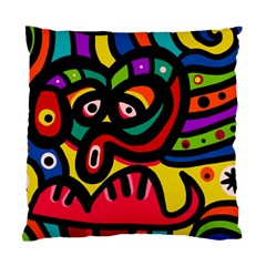 A Seamless Crazy Face Doodle Pattern Standard Cushion Case (One Side)