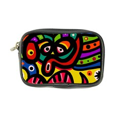 A Seamless Crazy Face Doodle Pattern Coin Purse
