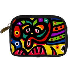 A Seamless Crazy Face Doodle Pattern Digital Camera Cases