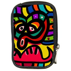 A Seamless Crazy Face Doodle Pattern Compact Camera Cases