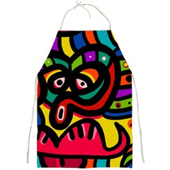 A Seamless Crazy Face Doodle Pattern Full Print Aprons