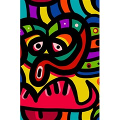 A Seamless Crazy Face Doodle Pattern 5 5  X 8 5  Notebooks