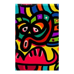 A Seamless Crazy Face Doodle Pattern Shower Curtain 48  X 72  (small)