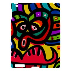 A Seamless Crazy Face Doodle Pattern Apple Ipad 3/4 Hardshell Case
