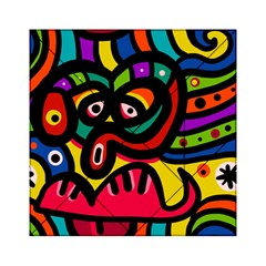 A Seamless Crazy Face Doodle Pattern Acrylic Tangram Puzzle (6  X 6 )