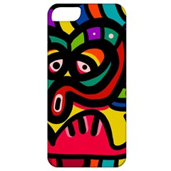 A Seamless Crazy Face Doodle Pattern Apple iPhone 5 Classic Hardshell Case