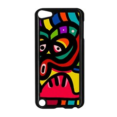 A Seamless Crazy Face Doodle Pattern Apple iPod Touch 5 Case (Black)