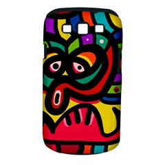 A Seamless Crazy Face Doodle Pattern Samsung Galaxy S Iii Classic Hardshell Case (pc+silicone)