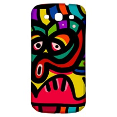 A Seamless Crazy Face Doodle Pattern Samsung Galaxy S3 S Iii Classic Hardshell Back Case