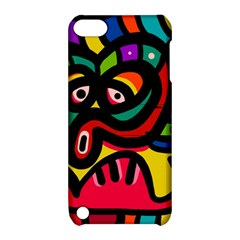 A Seamless Crazy Face Doodle Pattern Apple iPod Touch 5 Hardshell Case with Stand