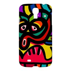 A Seamless Crazy Face Doodle Pattern Samsung Galaxy S4 I9500/i9505 Hardshell Case