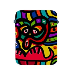 A Seamless Crazy Face Doodle Pattern Apple Ipad 2/3/4 Protective Soft Cases