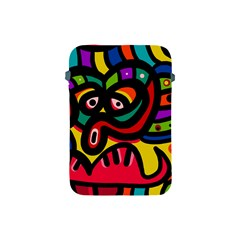 A Seamless Crazy Face Doodle Pattern Apple iPad Mini Protective Soft Cases