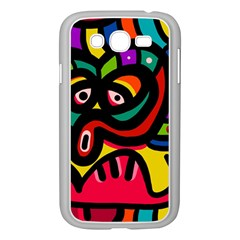A Seamless Crazy Face Doodle Pattern Samsung Galaxy Grand Duos I9082 Case (white)
