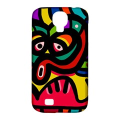 A Seamless Crazy Face Doodle Pattern Samsung Galaxy S4 Classic Hardshell Case (pc+silicone)