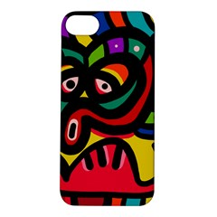A Seamless Crazy Face Doodle Pattern Apple iPhone 5S/ SE Hardshell Case