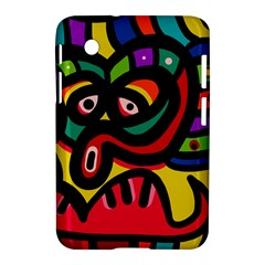 A Seamless Crazy Face Doodle Pattern Samsung Galaxy Tab 2 (7 ) P3100 Hardshell Case