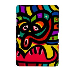 A Seamless Crazy Face Doodle Pattern Samsung Galaxy Tab 2 (10 1 ) P5100 Hardshell Case