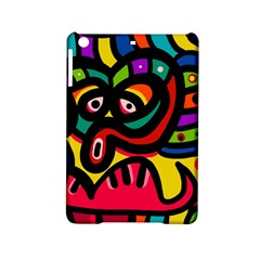 A Seamless Crazy Face Doodle Pattern Ipad Mini 2 Hardshell Cases