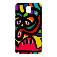 A Seamless Crazy Face Doodle Pattern Samsung Galaxy Note 3 N9005 Hardshell Back Case