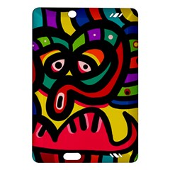 A Seamless Crazy Face Doodle Pattern Amazon Kindle Fire Hd (2013) Hardshell Case