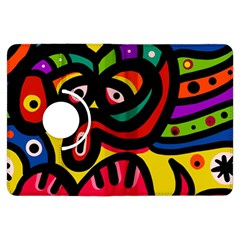 A Seamless Crazy Face Doodle Pattern Kindle Fire HDX Flip 360 Case