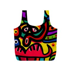 A Seamless Crazy Face Doodle Pattern Full Print Recycle Bags (s)