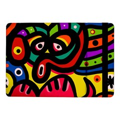 A Seamless Crazy Face Doodle Pattern Samsung Galaxy Tab Pro 10 1  Flip Case