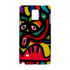 A Seamless Crazy Face Doodle Pattern Samsung Galaxy Note 4 Hardshell Case
