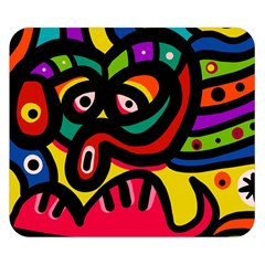 A Seamless Crazy Face Doodle Pattern Double Sided Flano Blanket (Small)
